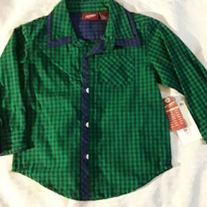Baby  Arizonia buttonup long sleeve shirt size 18